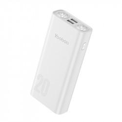 YOOBAO L20 Dual USB Port And Dual Ultra Bright LED Flashlight