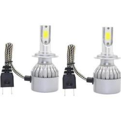C6-H7 8000K Auto LED Lighting Headlight Globe (2 pieces)