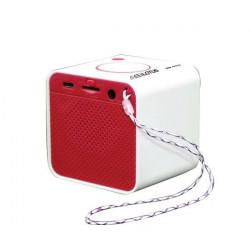 Everlotus Bluetooth Cube Speaker - Red