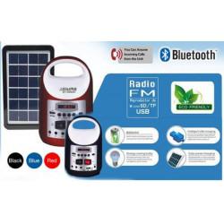 Everlotus Home Solar Lighting System with USB Bluetooth Speaker