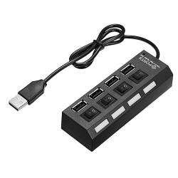 4-Ports USB2.0 Hub with Switch
