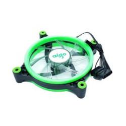 Aigo 120MM Black Case Fan With Green Led
