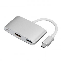 USB-C To 4K HD HDMI + USB3.0 Multifunction Adapter (Grey)