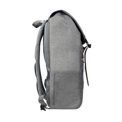 """RUSA 509 15.6""""NOTEBOOK BACKPACK; MICROFIBER LEATHER +WATER-REPELLENT NYLON ; GREY COLOUR"""