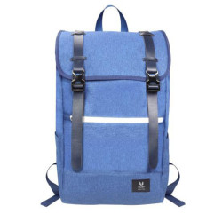 """RUSA 509 15.6""""NOTEBOOK BACKPACK; MICROFIBER LEATHER +WATER-REPELLENT NYLON ; BLUE COLOUR"""