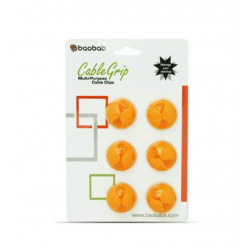 Baobab Multi-purpose Cable Clips - Orange