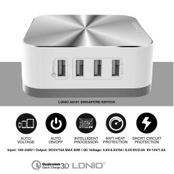 LDNIO A8101 Multi-functional 8 Ports Desktop Charger