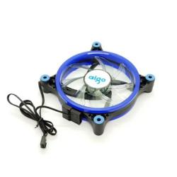 Aigo 120MM Black Case Fan With Blue Led