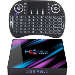 4K Android 9.0 (2+16) H96 MAX-3318 with Backlit Mini Keyboard Combo