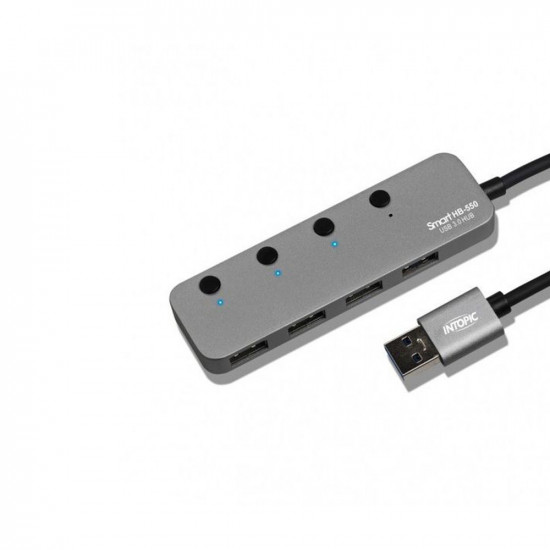 Intopic HB-550, 4 Ports USB3.1 High Speed Hub