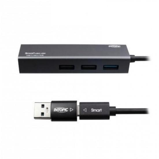 Intopic HBC-580 USB3.1 & RJ45 Aluminum Hub