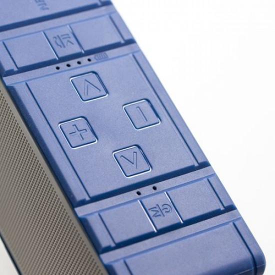 Intopic Blue Waterproof Multifunctional BT Speaker (Hammer Series)
