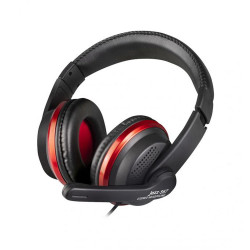 JAZZ-567 Stereo Headphone Intopic With 2 Gold-Plated 3.5mm Audio Jacks - Mic Input and Audio Output