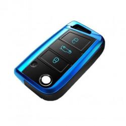 TPU Anti-dust & Anti-slip Car Key Cover for VW
