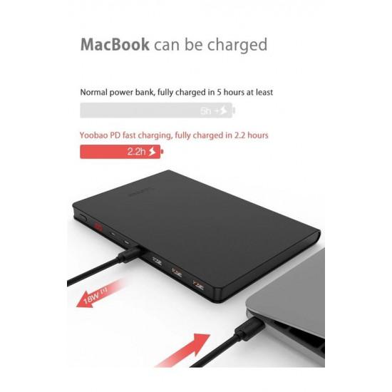 Yoobao 30Book Fast Charge PowerBank 30000mAh – 111Wh
