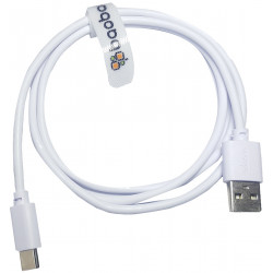 Baobab USB-C To USB-A Charging Cable - White - 100 cm