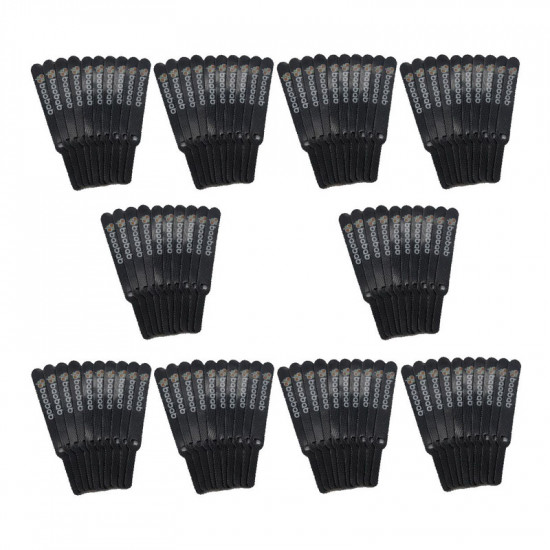 Baobab Nylon Strap Cable Tie With Hook - 100 Pieces Black