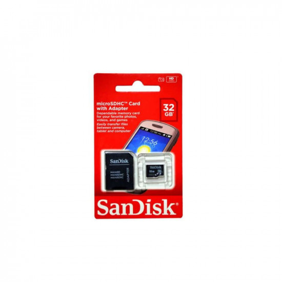 Sandisk 32 GB MicroSDHC-I Card Class 4 With SD Card Adapter