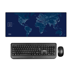 Intopic Multipurpose Large Size Mousepad Intopic + Intopic KCW-939 2.4GHz Wireless Keyboard Mouse Combo