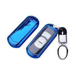 TPU Car Key Cover Shell for Mazda (Blue)