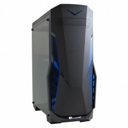 PremiumSun C910BS Single Side Full Size Perspex Panel Black Gaming Chassis