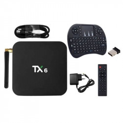 Android 9.0 (4G + 32G) TV Box With Wireless Mini Keyboard